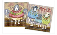 "Sheep In Sweaters ""Thank You"" Mini Card Pack"