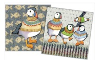Woolly Puffins Mini Card Pack
