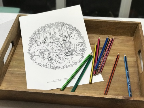 A4 Colour-in sheet Enchanted Wood