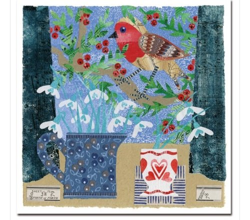 Robin and China pack of 6 Christmas Cards