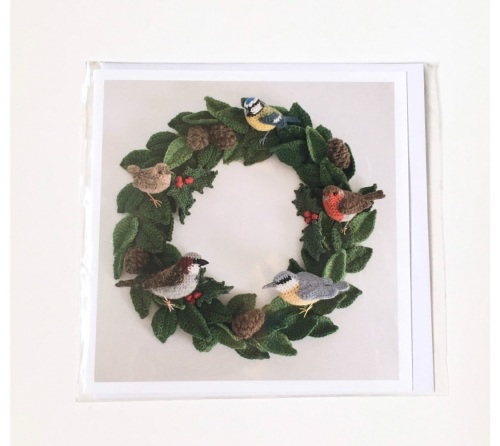 Bird Wreath greetings card by Jose H