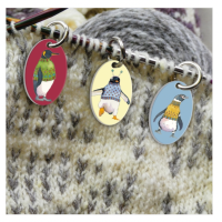 """Penguins in Pullovers""  Stitch marker"