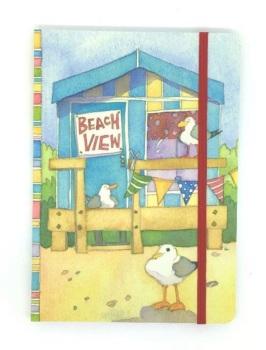 A6 Beach Hut Notebook