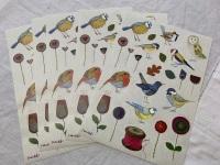 Stitched Birdies Sticker Sheets x 5