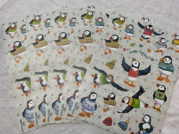 Woolly Puffins Sticker Sheets x 5