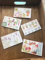 Pack of 10 Gardening notecards with envelopes