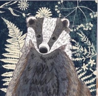 *new* Wild Wood Badger card