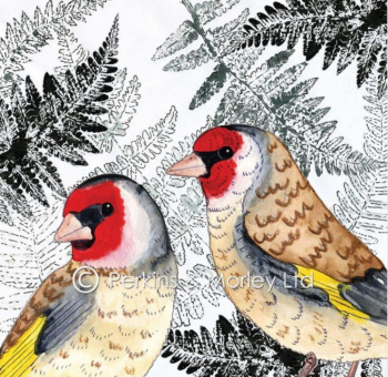 *new* Leaf it Out Goldfinch card