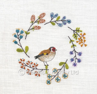 *new* Embroidery Goldfinch card