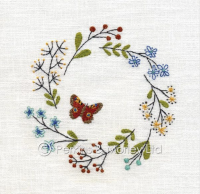 *new* Embroidery Peacock Butterfly card