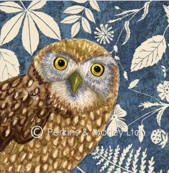 *new* Wild Wood Little Owl card