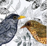 *new* Leaf it Out Blackbird card