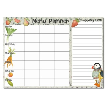 "*New* ""Woolly Puffins""  Menu Planner"