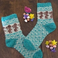 *NEW* Alice's Easter Bunny Sock Kit - Turquoise