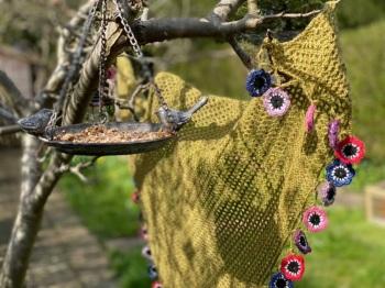 Locket's Easter Gift Box - Crochet  Windflower Shawl