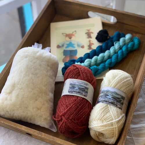 New Fox Boy Kit - in Donegal Silk Tweed - turquoises