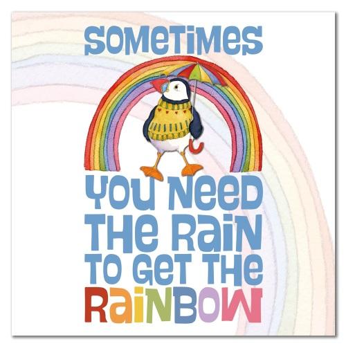 Rain makes a rainbow card