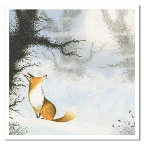 Happy Fox card by Eric Hyman