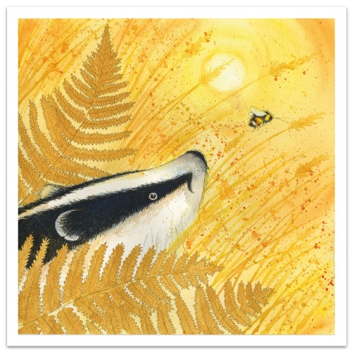 Golden Badger card by Eric Hyman