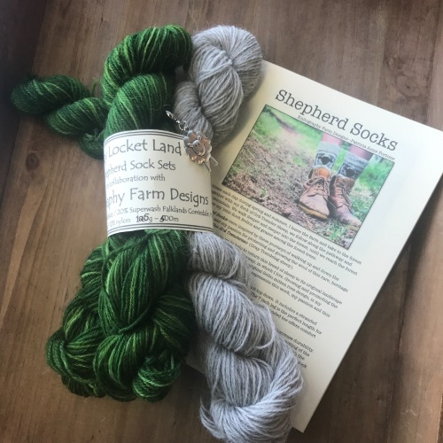 *NEW* Shepherd Sock  Kit  - Spring Lambs - dark green
