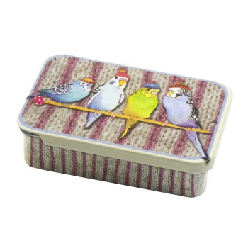 Budgies in Beanies Pocket Tin