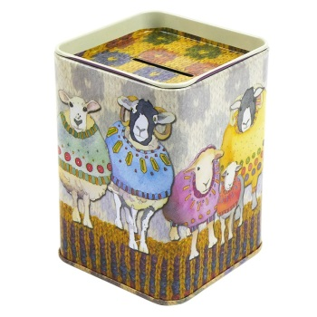 Money tin - Sheep in Sweaters