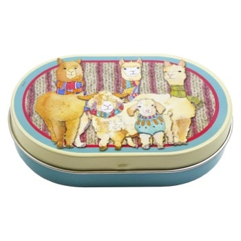 Oval Mini Hinged Tin - Other Woollies