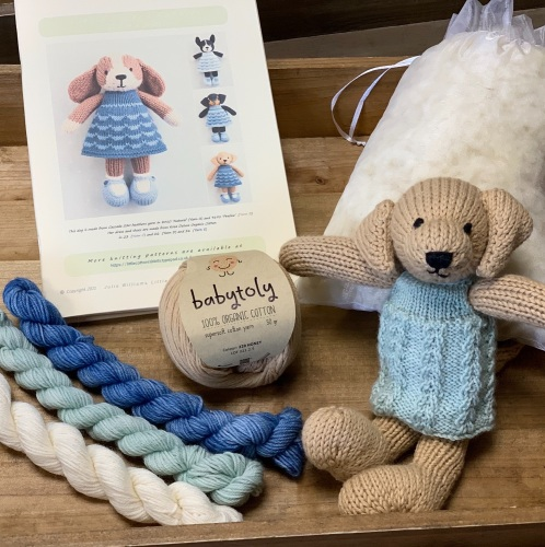 New Dog in a Dress with organic Babytoly cotton - Golden