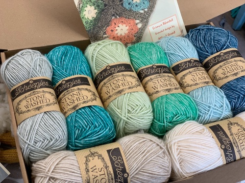 Cosmos Blanket Kit - Sea Shades #2 (Sandy Main Colour)