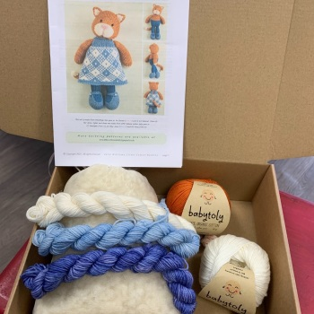 New Cat Girl with organic Babytoly cotton - Ginger and White