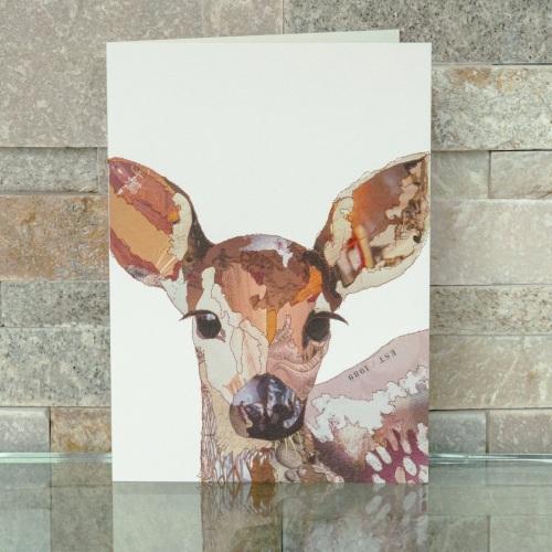 Baby Fawn blank card by Catherine Kleeli