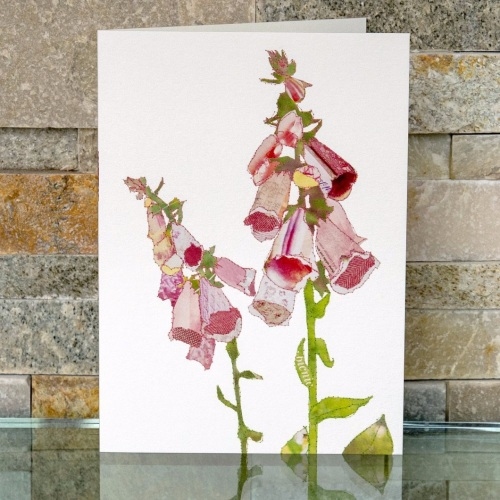 Foxglove blank card by Catherine Kleeli