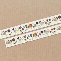 *New* Stitched Birdies cream 15mm washi tape