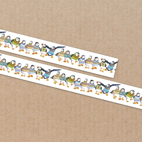 *New* Woolly Puffins 15mm washi tape