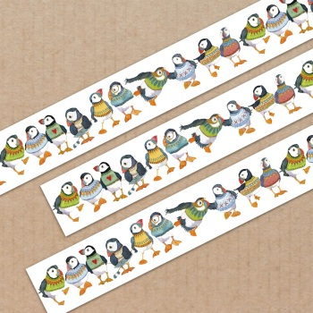 *New* Woolly Puffins 20mm washi tape