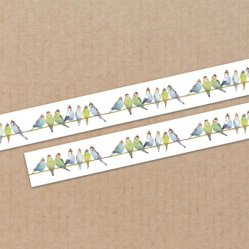 *New* Budgies in Beanies 15mm washi tape