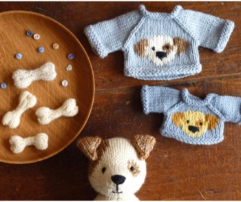 Printed booklet of Dog bone and Dog chart for Little Cotton Rabbits jumpers