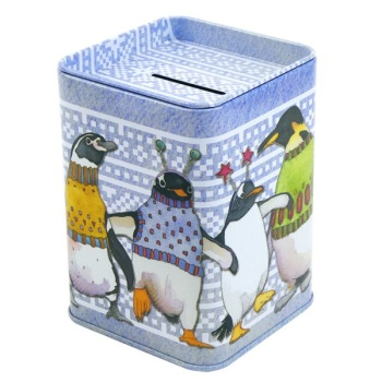 Money tin - Penguins in Pullovers