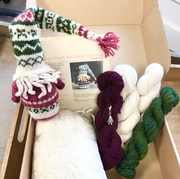 The Fair Isle Fella - burgundy/green - Gnome is where you hang your hat kit