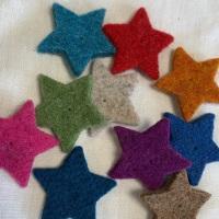 Beautiful felt mini stars from Joe's Toes  - box of 10