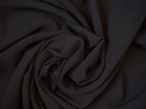Black Polyester Semi sheer, PL0007