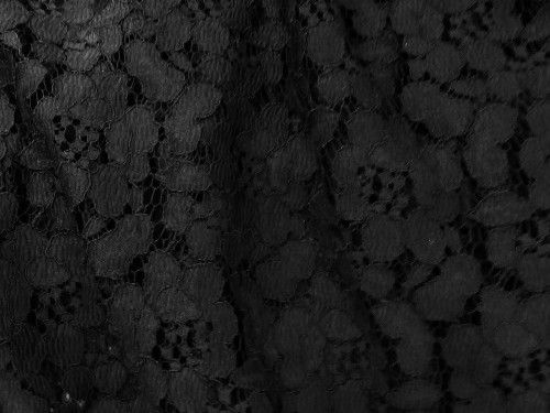 Heavy BLack Lace, polyester BE0008