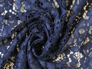 Blue Corded Lace, polyester BE0007