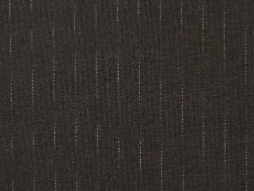 Polyester Wool, grey with pale blue stripe. BW0012