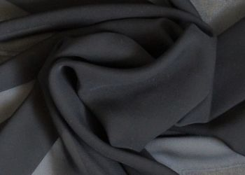 Black Polyester Sheer Chiffon, PL0075