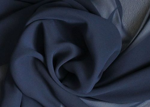 Navy Polyester Chiffon, PL0077