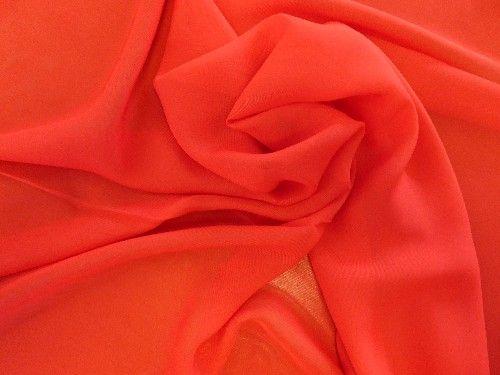 Red Polyester Chiffon, PL0074