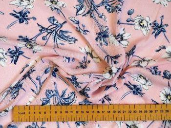 Pink  Floral Polyester, PL0083