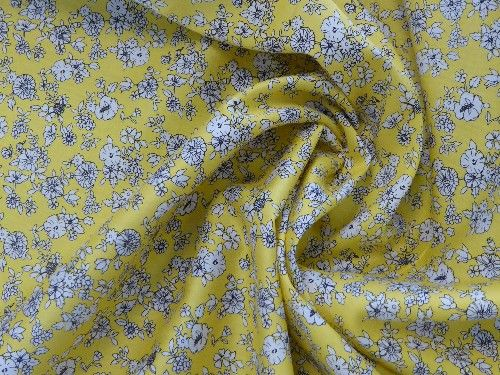 Yellow Floral Cotton lawn CO1078