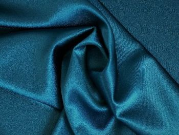 Teal Satin Backed Crepe, BE0009